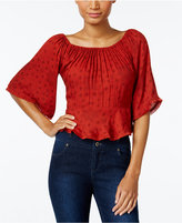 Buffalo David Bitton Twayn Rust Off-The-Shoulder Top