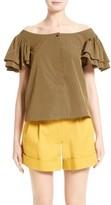 Isa Arfen Women's Frou Frou Flutter Sleeve Shirt