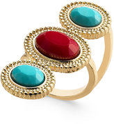 Thalia Sodi Gold-Tone Red and Blue Stone Ring, Created for Macy's
