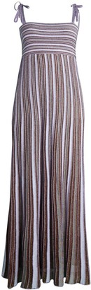 M Missoni Tie Strap Striped Maxi Dress