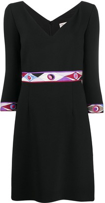 Emilio Pucci Abstract-Print Detail Dress