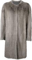 Liska - buttoned coat - women - Cashmere/Mink Fur - M
