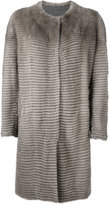 Liska - buttoned coat - women - Mink Fur/Cashmere - M