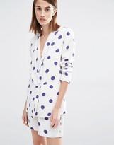 Selected Fria Polka Dot 3/4 Sleeve Blazer