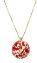 GEMFIELDS X MUSE Marquetry Red Chinese Ball Necklace