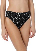 Stella McCartney Draped Polka Dot High-Waist Bikini Bottom