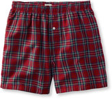 L.L. Bean Scotch Plaid Flannel Boxers