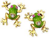 Betsey Johnson Frog Stud Earrings