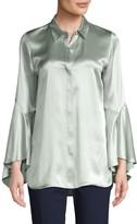 Lafayette 148 New York Bell-Sleeve Silk Blouse