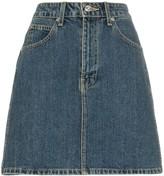 Eve Denim Tallulah high-wasited denim mini skirt