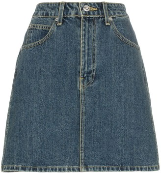 Eve Denim Tallulah high-wasited denim mini skirt