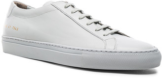 Common Projects Original Leather Achilles Low in Grey   FWRD
