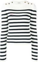 Miu Miu striped rib jumper