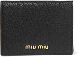 Miu Miu Textured-leather Wallet - Black