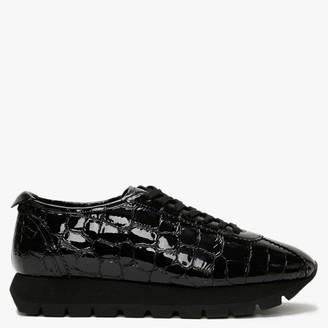 Kennel + Schmenger Markova Black Patent Leather Moc Croc Trainers