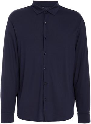 Vilebrequin Calandre Cotton-Jersey Button-Up Shirt