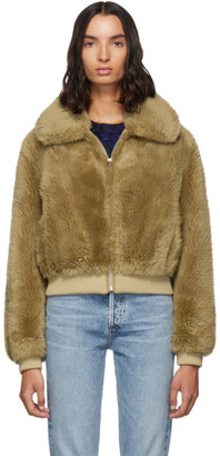 Yves Salomon Meteo Brown Wool Flap Collar Jacket