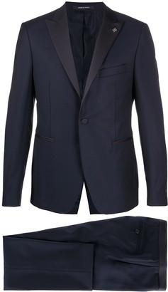 Tagliatore Satin Peaked-Lapel Tuxedo Suit