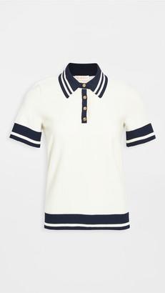 Tory Burch Mesh Polo Shirt