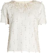 Ashish Sequin-embellished short-sleeved cotton top