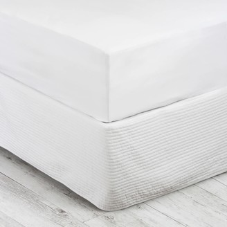 Wallace Cotton Stonewashed Cotton Fitted Sheet 200Tc Single White