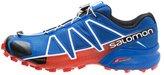 Salomon Speedcross 4 Trail Running Shoes Blue Yonder/black/lava Orange