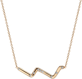 14K Gold With Diamonds Subway Series Necklace