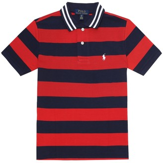 Polo Ralph Lauren Kids Striped cotton pique polo shirt