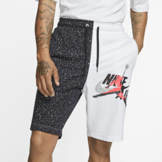 Jordan Jumpman Classics Fleece Shorts - White / Black