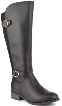 Karen Scott Leandraa Wide-Calf Riding Boots, Created for Macy's Women's Shoes