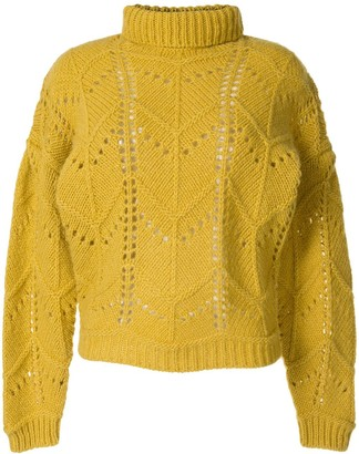 IRO Lovey roll neck open-knit jumper