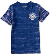 Buffalo David Bitton Big Boys 8-20 Kerrow Bleach-Striped Short-Sleeve Tee