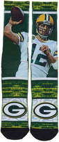 For Bare Feet Green Bay Packers Nfl Rush Player Jersey Crew Socks Aaron Rodgers