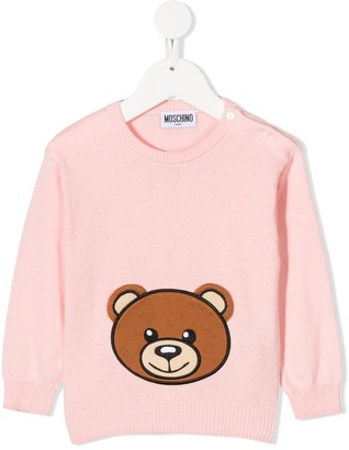 MOSCHINO BAMBINO Teddy Bear Motif Jumper