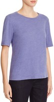 Eileen Fisher Organic Cotton Heathered Tee