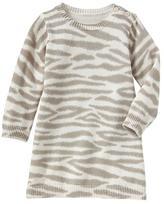 Gap Intarsia tiger print sweater dress