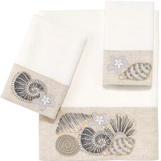 Avanti Shell Collection Embroidered Bath Towel Bedding