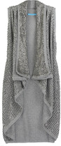 Alice + Olivia Sleeveless sequined cardigan