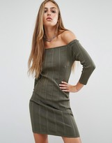 Rock & Religion Erin Off Shoulder Rib Dress