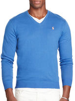 Polo Ralph Lauren V-Neck Cotton and Cashmere Sweater