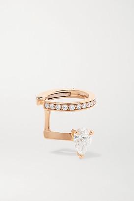 Repossi Serti Sur Vide 18-karat Rose Gold Diamond Ear Cuff