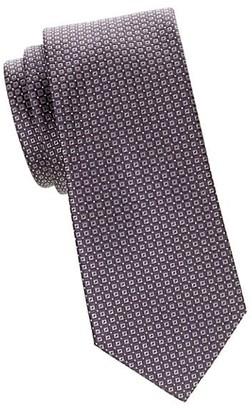 Brioni Grid Flannel Silk Tie