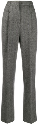 Moschino Pre-Owned 1990s Tailored Herringbone Trousers