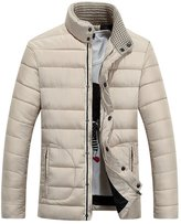 Ellove Fashion Winter Thickened Men's Coat Puffer Jacket Jogging Zipper Overcoat
