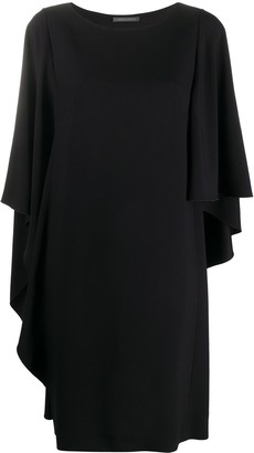 Alberta Ferretti Draped Sleeve Shift Dress