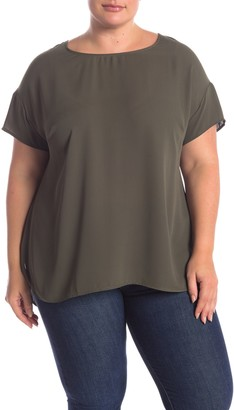 Daniel Rainn Dr2 By Drop Shoulder Short Sleeve Blouse (Plus Size)
