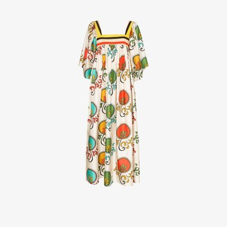 RIANNA + NINA Mirilia print flared dress