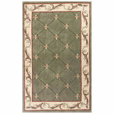 Kas Fleur de Lis Hand-Carved Wool Rectangular Rug