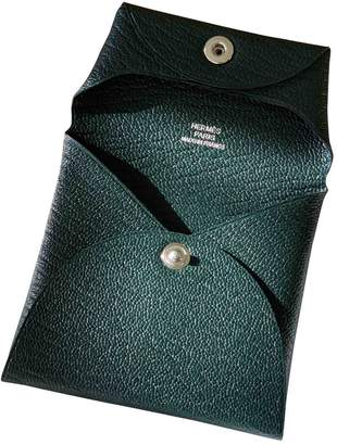 Hermes Bastia Green Leather Purses, wallets & cases