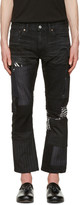 Junya Watanabe Black Multi Fabric Patch Jeans